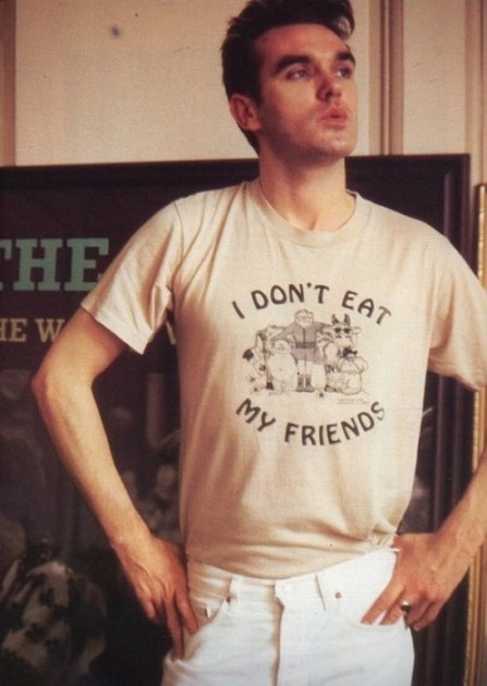 Morrissey tee-shirt I DON'T EAT MY FRIENDS