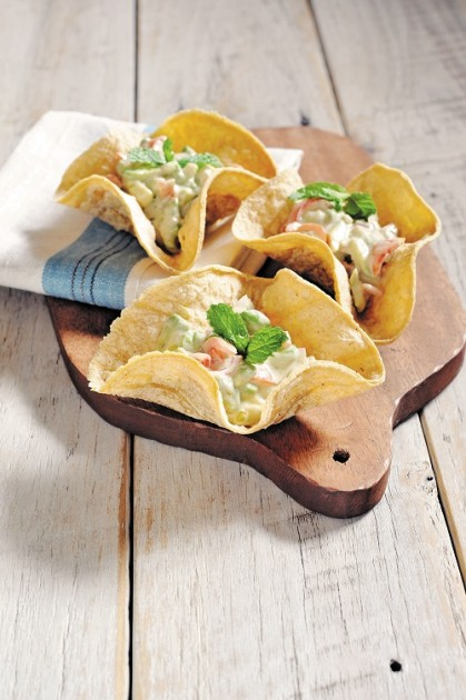 Mini-bols en tortillas
