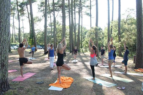Cours de Yoga au Vegan Summer Camp